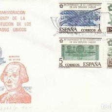 Sellos: EDIFIL 2322/5, BICENTENARIO DE LA INDEPENDENCIA DE LOS ESTADOS UNIDOS, PRIMER DIA DE 29-5-1976 SFC. Lote 225305415