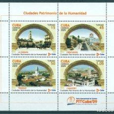 Sellos: 5283MS CUBA 2009 MNH UNESCO - CUBAN WORLD HERITAGE SITES. Lote 226311726