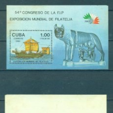 Sellos: 2967-2 CUBA 1985 MLH THE ITALIA 85 INTERNATIONAL STAMP EXHIBITION, ROME. Lote 226311831