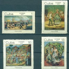 Sellos: 1640 CUBA 1970 MNH THE AFRO-CUBAN FOLKLORE PAINTINGS. Lote 226312703