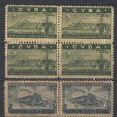 Sellos: 196 CUBA 1944 NG AIRMAIL - THE 450TH ANNIVERSARY OF DISCOVERY OF AMERICA. Lote 226313505
