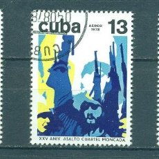 Sellos: 2319 CUBA 1978 U THE 25TH ANNIVERSARY OF THE ATTACK ON MONCADA FORTRESS. Lote 226314426