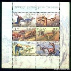 Sellos: PL-3817 POLAND 2000 MNH PREHISTORIC ANIMALS. Lote 226317230