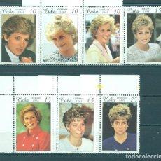 Sellos: 4135 CUBA 1998 MNH DIANA, PRINCESS OF WALES COMMEMORATION - INSCRIPTION LADY DIANA 1961-1997 AT BOTT. Lote 226317813