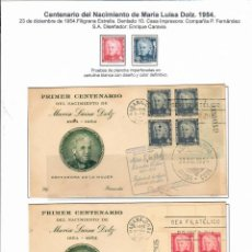 Sellos: KOL-440 CUBA 1954 THE 100TH ANNIVERSARY OF THE BIRTH OF MARIA DOLZ, EDUCATIONIST. Lote 226330966
