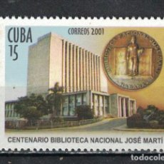 Sellos: 4396 CUBA 2001 MLH THE 100TH ANNIVERSARY OF THE JOSÉ MARTI NATIONAL LIBRARY. Lote 226332138