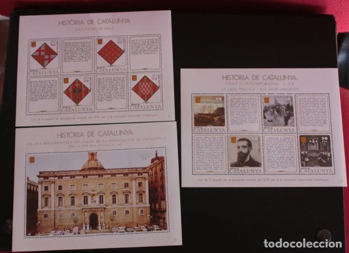 Sellos: HISTORIA DE CATALUNYA EN SELLOS. GREMIO DE FILATELIA DE BARCELONA. - Foto 2 - 227270565