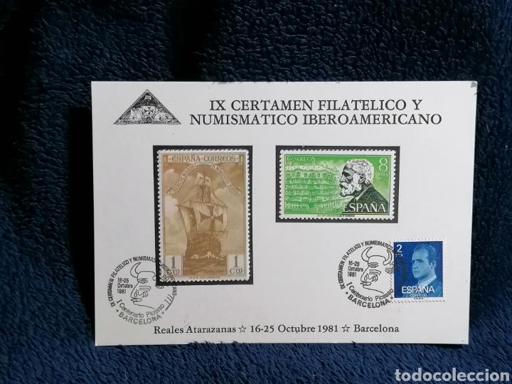 Sellos: España. Lote sellos sobres Exposiciones filatelicas Barcelona - Foto 7 - 229226970