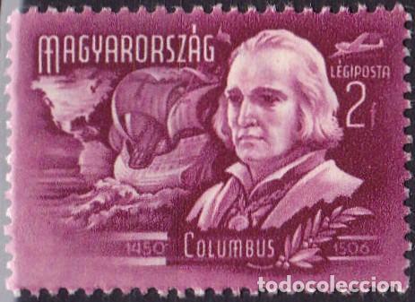 1948 - HUNGRIA - CORREO AEREO - GRANDES INVENTORES Y EXPLORADORES - COLON - YVERT 71 (Sellos - Temáticas - Historia)