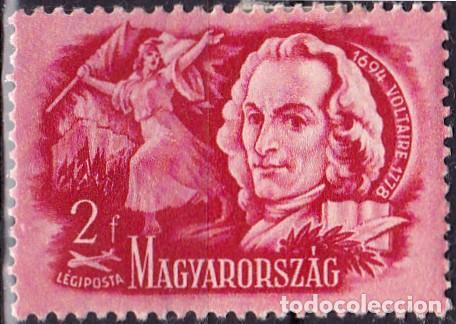 1948 - HUNGRIA - CORREO AEREO - ESCRITORES CELEBRES - VOLTAIRE - YVERT 81 (Sellos - Temáticas - Historia)