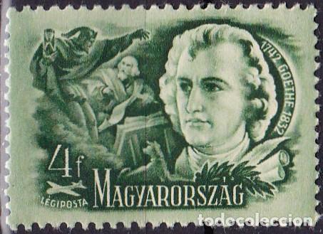 1948 - HUNGRIA - CORREO AEREO - ESCRITORES CELEBRES - GOETHE - YVERT 82 (Sellos - Temáticas - Historia)