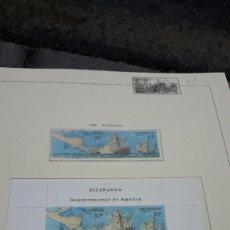Sellos: NICARAGUA. DESCUBRIMENTO DE AMÉRICA 1986 - 8. EN HOJA FILABO. SIN CIRCULAR.. Lote 236874830