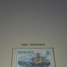 Sellos: BAHAMAS. DESCUBRIMIENTO DE AMÉRICA 1980 - A. EN HOJA FILABO. SIN CIRCULAR.. Lote 236875530