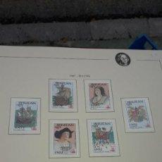 Sellos: BHUTAN. QUINTO CENTENARIO 1987 - 1. EN HOJA FILABO. SIN CIRCULAR. Lote 236892925