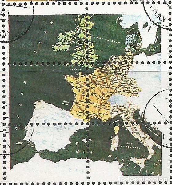 Sellos: AJMAN STATE - 1973 - BLOQUE DE 16 SELLOS DE REYES Y PRESIDENTES DEL MERCADO COMÚN DE EUROPA, SELLADO - Foto 2 - 237661465