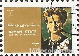 Sellos: AJMAN STATE - 1973 - BLOQUE DE 16 SELLOS DE REYES Y PRESIDENTES DEL MERCADO COMÚN DE EUROPA, SELLADO - Foto 4 - 237661465