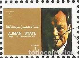 Sellos: AJMAN STATE - 1973 - BLOQUE DE 16 SELLOS DE REYES Y PRESIDENTES DEL MERCADO COMÚN DE EUROPA, SELLADO - Foto 7 - 237661465