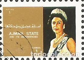 Sellos: AJMAN STATE - 1973 - BLOQUE DE 16 SELLOS DE REYES Y PRESIDENTES DEL MERCADO COMÚN DE EUROPA, SELLADO - Foto 8 - 237661465