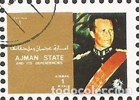 Sellos: AJMAN STATE - 1973 - BLOQUE DE 16 SELLOS DE REYES Y PRESIDENTES DEL MERCADO COMÚN DE EUROPA, SELLADO - Foto 9 - 237661465