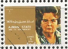 Sellos: AJMAN STATE - 1973 - BLOQUE DE 16 SELLOS DE REYES Y PRESIDENTES DEL MERCADO COMÚN DE EUROPA, SELLADO - Foto 10 - 237661465