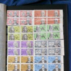Sellos: ALEMANIA DDR PERSONAJES HISTORIA SERIE 1978 Y 1981 BLOQUE DE 4. Lote 240704780
