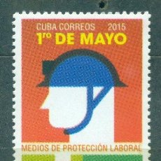 Sellos: CUBA 2015 INTERNATIONAL LABOUR DAY MNH - HOLIDAYS, BUILDER. Lote 241338395