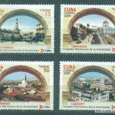 Sellos: CUBA 2009 UNESCO - CUBAN WORLD HERITAGE SITES MNH - ARCHITECTURE, UNESCO. Lote 241338935