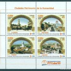 Sellos: CUBA 2009 UNESCO - CUBAN WORLD HERITAGE SITES MNH - ARCHITECTURE, UNESCO. Lote 241339285