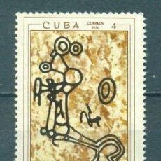 Sellos: CUBA 1970 THE 30TH ANNIVERSARY OF THE CUBAN SPELEOLOGICAL SOCIETY NG - ARCHEOLOGY. Lote 241340155