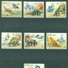 Sellos: 🚩 CUBA 1985 BACONAO VALLEY NATIONAL PARK - PREHISTORIC ANIMALS MNH - DINOSAURS. Lote 241344620