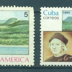Sellos: CUBA 1990 AMERICA - THE NATURAL WORLD MNH - SHIPS, CHRISTOPHER COLUMBUS. Lote 241345275