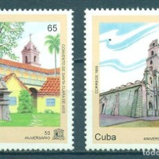 Sellos: CUBA 1995 THE 50TH ANNIVERSARY OF THE WORLD HERITAGE SITES OF UNESCO MNH - ARCHITECTURE, UNESCO. Lote 241346090