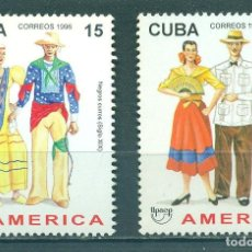 Sellos: CUBA 1996 TRADITIONAL COSTUMES - AMERICA MNH - CULTURE, COSTUMES, TRADITIONS. Lote 241346295