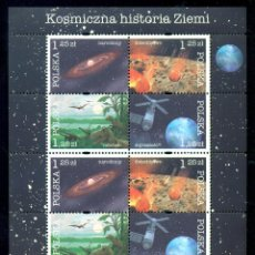 Sellos: POLAND 2004 COSMIC HISTORY OF THE EARTH MNH - SPACE, DINOSAURS. Lote 241346710