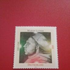 Sellos: SELLO ALEMANIA R. FEDERAL NUEVOS/1996/450ANIV/MUERTE/MARTIN/LUTERO/RELIGION/RETRATO/HISTORIA/CREENCI. Lote 242533480
