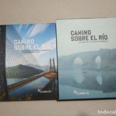 Sellos: CAMINO SOBRE EL RIO. HISTORIA DE LOS PUENTES ESPAÑOLES. CORREOS, 2013. 285 PP. LIBRO CON LOS SELLOS.. Lote 242840520