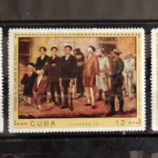 Sellos: CUBA-CENTENARIO DEL FUSILAMIENTO DE LOS ESTUDIANTES- M 1813/16 SERIE COMPLETA 3 V.. Lote 243069245