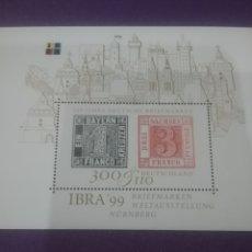 Sellos: HB ALEMANIA R FEDERAL NUEVO/1999/EXP/INTER/FILATELIA/CLANIV/SELLO/NUMERO/1/SAJONIA/EDIFICIOS/ARQUITE. Lote 243902470