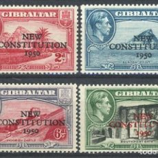 Sellos: GIBRALTAR 1950 IVERT 125/8 ** NUEVA CONSTITUCIÓN - VISTAS DE GIBRALTAR. Lote 244556525