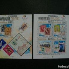 Sellos: GUINEA BISSAU-2013-SERIE COMPLETA+BLOQUE EN NUEVO(**MNH)-CORREOS-SELLO SOBRE SELLO. Lote 244629445