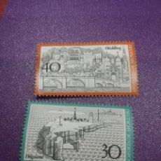 Sellos: SELLO ALEMANIA R. FEDERAL NUEVOS/1972/CUIDAD/PUERTO/BARCO/FARO/ALDEA/PUENTE/FORTALEZA/HISTORIA/ARQUI. Lote 244934630