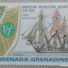 Sellos: 1976. GRENADA-GRENADINES. 157. BICENTENARIO INDEPENDENCIA DE EEUU. FRAGATA 'SOUTH CAROLINA'. NUEVO.. Lote 246088170