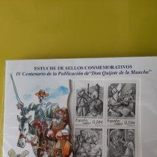 Sellos: DON QUIJOTE DE LA MANCHA CENTENARIO HOJA BLOQUE EN ESTUCHE 2005 TIRADA LIMITADA. Lote 246101780