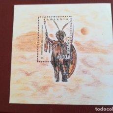 Sellos: HOJA DE BLOQUE TANZANIA 1993 ÉTNICO CON GOMA. Lote 247303955