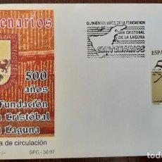 Sellos: MATASELLOS PRIMER DÍA. ESPAÑA 1997. 500 AÑOS FUNDACION SAN CRISTOBAL DE LA LAGUNA. Lote 249237735