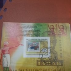 Sellos: HB R. GUINEA MTDO/2009/CELEBRIDADE/GANDHI/SELLOS/INDIA/BANDERA/RETRATO/HISTORIA/ARTE. Lote 253730500
