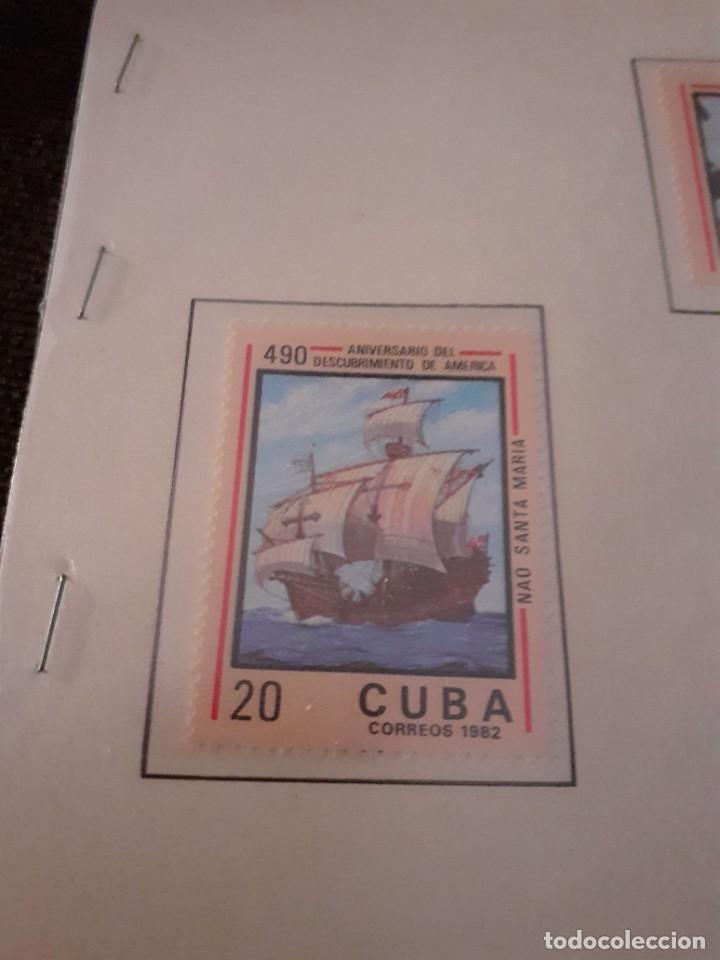 Sellos: Lote de 4 sellos Cuba. 490 aniversario Descubrimiento de América. Sin circular. Raros y cotizados - Foto 2 - 255998660