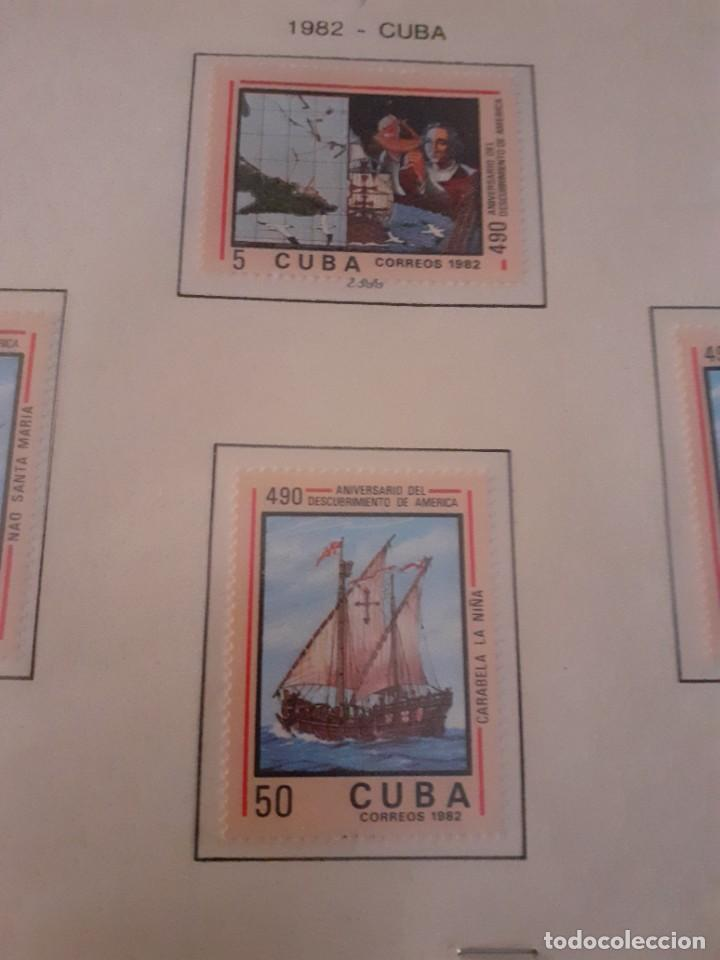 Sellos: Lote de 4 sellos Cuba. 490 aniversario Descubrimiento de América. Sin circular. Raros y cotizados - Foto 3 - 255998660