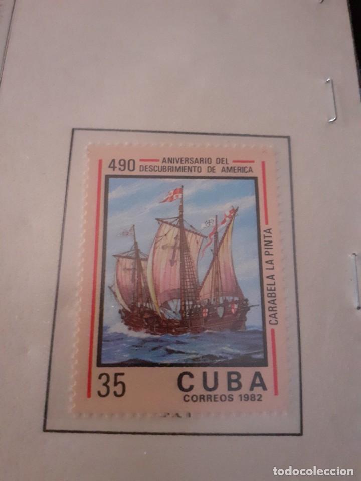 Sellos: Lote de 4 sellos Cuba. 490 aniversario Descubrimiento de América. Sin circular. Raros y cotizados - Foto 4 - 255998660