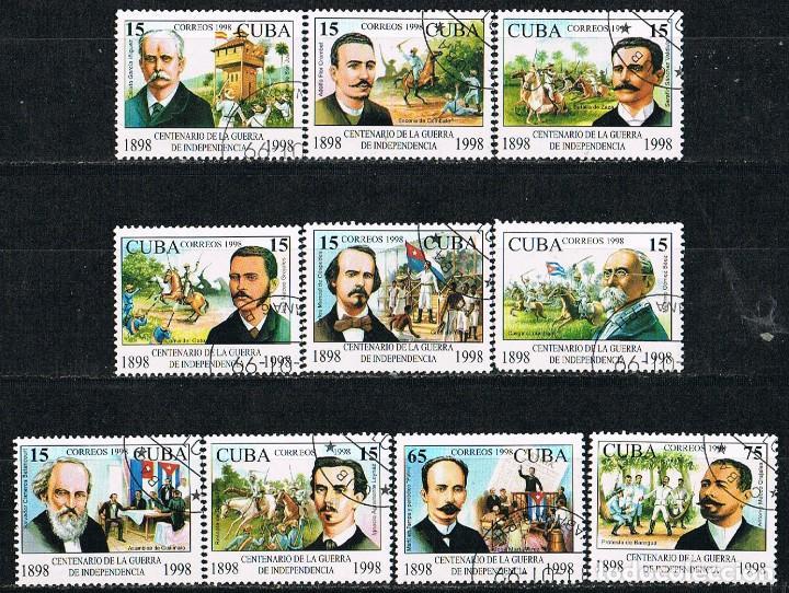 CUBA Nº 4183/92, CENTENARIO DE LA GUERRA DE LA INDEPENDENCIA (LAGUERRA DE CUBA)USADO, SERIE COMPLETA (Sellos - Temáticas - Historia)